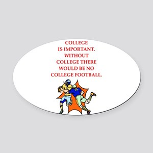 college Oval Car Magnet