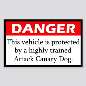 Attack Canary Dog Sticker