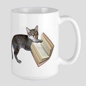 Reading Cat Stainless Steel Travel Mugs