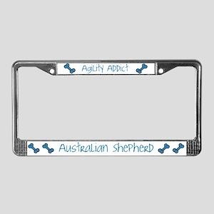 Australian Shepherd 2 Agility Artwork License Plat