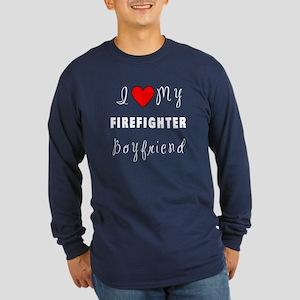 Firefighter Boyfriend Long Sleeve Dark T-Shirt