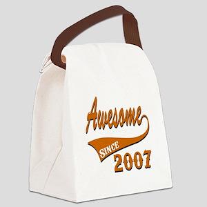 Awesome Since 2007 Birthday Desig Canvas Lunch Bag
