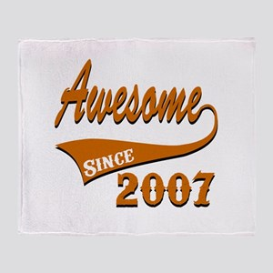 Awesome Since 2007 Birthday Designs Throw Blanket
