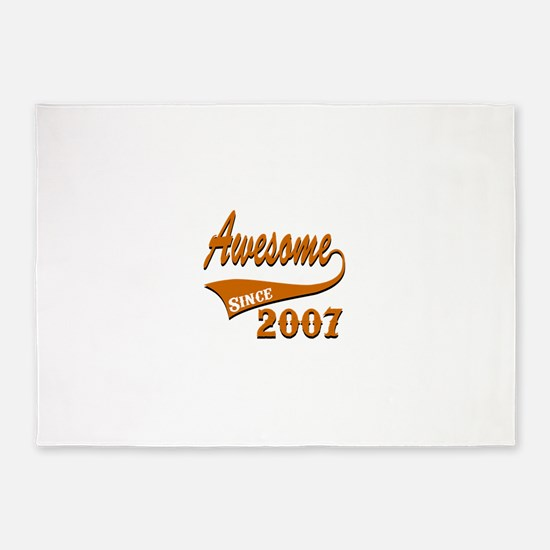 Awesome Since 2007 Birthday Designs 5'x7'Area Rug