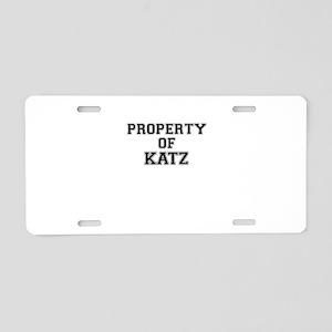 Property of KATZ Aluminum License Plate