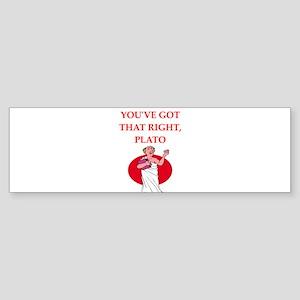 plato Bumper Sticker