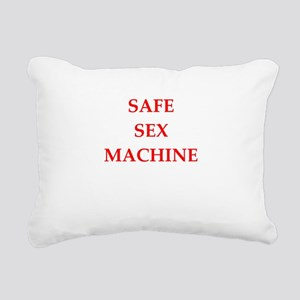 safe sex Rectangular Canvas Pillow