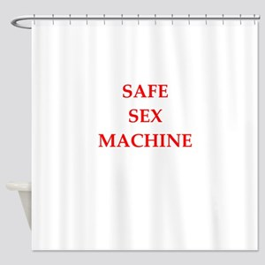 safe sex Shower Curtain