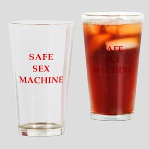 safe sex Drinking Glass