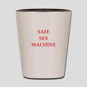 safe sex Shot Glass