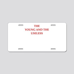 young Aluminum License Plate