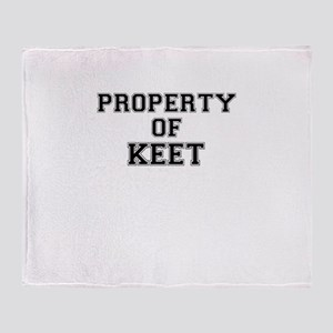 Property of KEET Throw Blanket