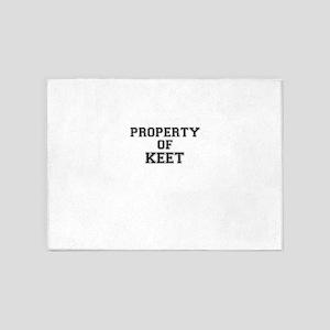 Property of KEET 5'x7'Area Rug