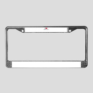 I Love Cape Hatteras License Plate Frame