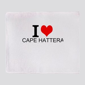 I Love Cape Hatteras Throw Blanket
