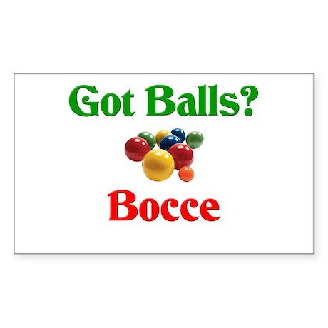 Got Balls? Bocce Rectangle Sticker