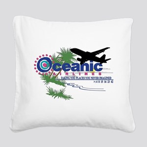 Oceanic Airlines 2 Square Canvas Pillow