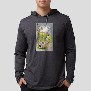 Vintage Bunny Tennis Easter Gr Long Sleeve T-Shirt