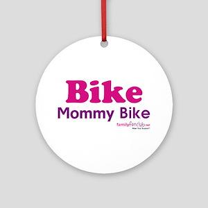 Bike Mommy Bike Ornament (Round)