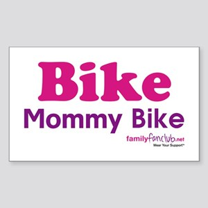 Bike Mommy Bike Rectangle Sticker