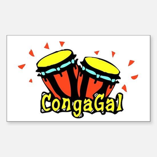CongaGal Rectangle Decal