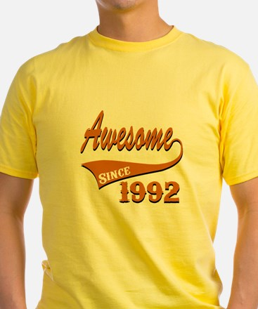 Awesome Since 1992 Birthday Designs T