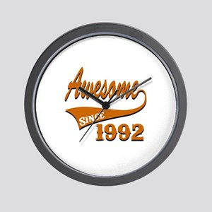 Awesome Since 1992 Birthday Designs Wall Clock