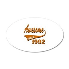 Awesome Since 1992 Birthday Wall Decal