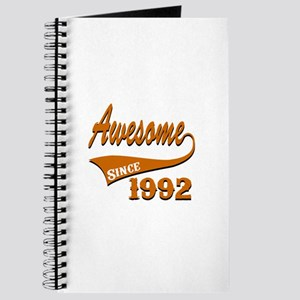 Awesome Since 1992 Birthday Designs Journal