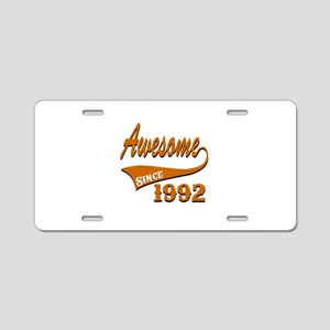 Awesome Since 1992 Birthday Aluminum License Plate