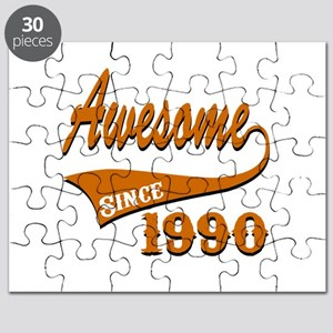 Awesome Since 1990 Birthday Designs Puzzle