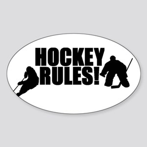 Hockey Rules Oval Sticker