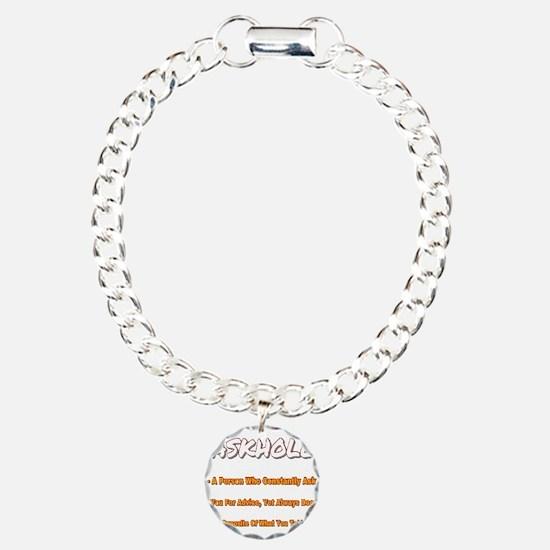 ASKHOLE ORANGE PNG Bracelet