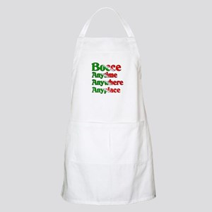 Bocce Anytime Anywhere Anyplace BBQ Apron