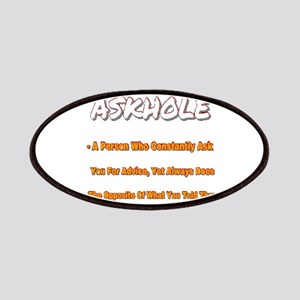 ASKHOLE ORANGE  Patch