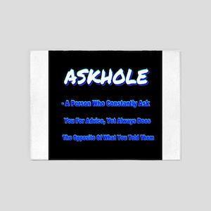 ASKHOLE BLUE 5'x7'Area Rug