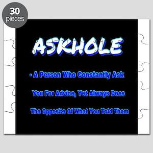 ASKHOLE BLUE Puzzle