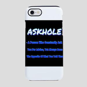 ASKHOLE BLUE iPhone 8/7 Tough Case