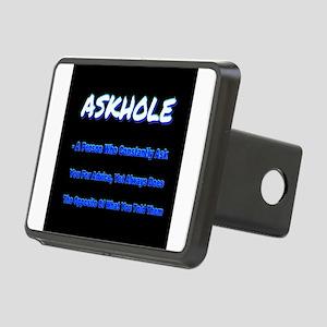 ASKHOLE BLUE Rectangular Hitch Cover