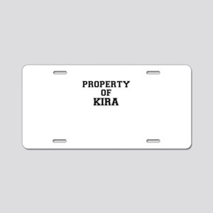 Property of KIRA Aluminum License Plate
