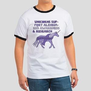 Unicorns Support Alzheimer's awareness & R T-Shirt