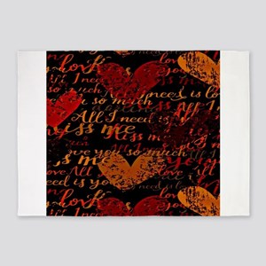 Kiss Me Miss Me Red 5'x7'Area Rug
