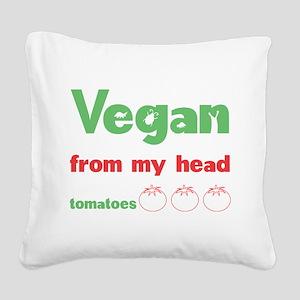 Vegan Square Canvas Pillow