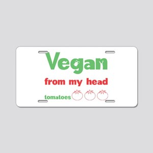 Vegan Aluminum License Plate