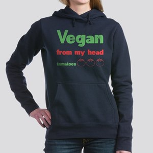 Vegan Women's Hooded Sweatshirt