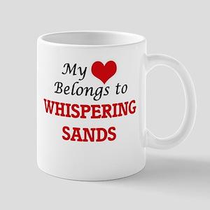 My Heart Belongs to Whispering Sands Californ Mugs