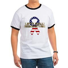 Let's Roll Patriotic Ribbon T