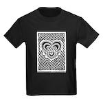 Celtic Knotwork Heart Kids Dark T-Shirt
