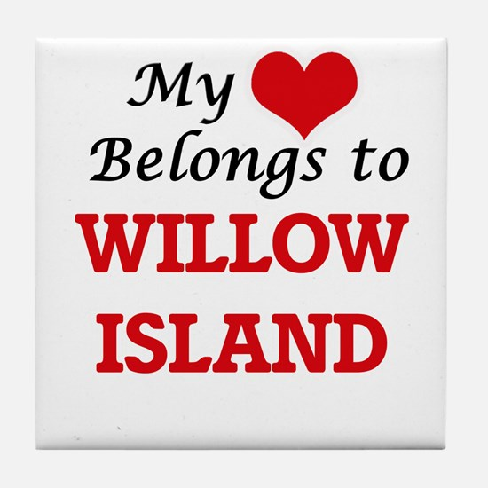My Heart Belongs to Willow Island Was Tile Coaster