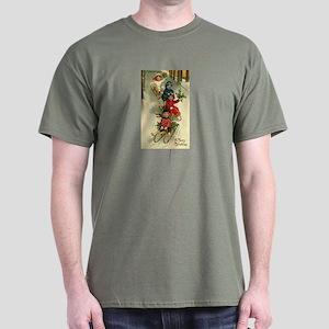 Victorian Children Christmas Dark T-Shirt